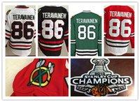 parche de hielo caliente al por mayor-Hot Sake para hombre Chicago Blackhawks 86 Teuvo Teravainen 2015 Stanley Cup campeón parche baratos Mejor calidad bordado Logo Hockey sobre hielo Jerseys