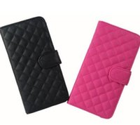Wholesale Iphone Quilted Leather - New Check Classical PU Leather Quilted Flip Cover Card Holder Stand Case For iPhone 6 Plus 5.5""