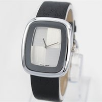 Wholesale Female Business Casual - Casual Watch Analog Quartz Luxury women business watch fashion brand noble female Wristwatche lady dress watch square Dial Genuine leather