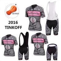 Wholesale Saxo Woman Cycling - 2016 Tinkoff Saxo Bank Tour De France Team Cycling Jerseys Women Bicycle Wear Short Sleeve Cycling Tights with Bib Pants or No Bib Shorts