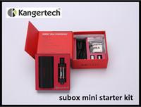 Wholesale Kanger Starter Set - 2015 Hot Kanger Subox Mini Starter kit 50W 0.3ohm Kangertech SUBOX Mini Set 510 Drip Tip 100% Authentic