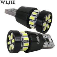 Wholesale Interior Bright White Bulb - WLJH bright T10 canbus led bulbs 18smd 3014 SMD Interior Lamp auto clearance tail led license parking stop indicator light bulb