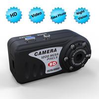 Wholesale hd thumbs - 1080P Night Vision Mini DV Camcorder T8000 12.0 MP Thumb mini DV Full HD Mini DV Pinhole Camera