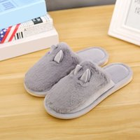 Wholesale Quiet Men - Winter Home Floor Slippers Shoes Anti-skid Sole Quiet Warm Slippers With Fur Indoor Sandals Casual Lovely Slippers For Lovers