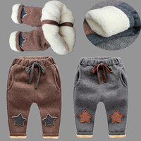Wholesale Baby Star Leggings - New Baby Pants Thick Winter Baby Child Trousers Star Pants Children Leggings Kids Thick Velvet Pants Boys Warm Trousers