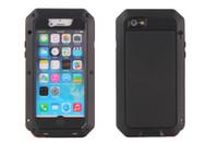 aluminiumtelefonkasten iphone großhandel-Luxus Stoßfest Wasserdicht Leistungsstarke schutz Aluminium Gorilla Glas Metall Abdeckung Handy Fällen Für iPhone X 4 5 6 6 s 7 8 plus