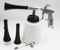 Wholesale High Pressure Gun - z-010 Black high pressure cleaning gun for car wash silcone tube clean gun car wash tornador gun(1complete gun+2horn+1brush+1tube+1pipe)