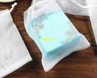 Wholesale 100pcs x15cm Soap blister mesh soap net Foaming Net easy bubble mesh bag white color