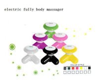 Wholesale Mini Massager Butterfly - USB Electric Handled Vibrating Mini Full Body Massager Butterfly Design Body Slimming Massager Muscle Massager Free Shipping