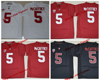 cardeais de futebol venda por atacado-2019 Stanford Cardeal Christian McCaffrey College Football Jerseys Mens 5 Christian McCaffrey costurado camisas do futebol da S-XXXL