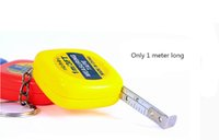 Wholesale Measuring Tape 1m - Wholesale-New Arrival Small Steel Ruler Mini 1M Tape Measures Stainless With Key Chain Gauging Tools Free shipping