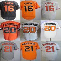 Wholesale Baseball Jersey Baltimore - Custom Mens Womens Kids Toddlers Baltimore 16 Wei-Yin Chen 20 Frank Robinson 21 Nick Markakis Orange Flex Base Cool Base Baseball Jerseys