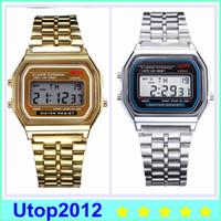 Wholesale Led 15 W - 15% Wholesale - Free Shipping 10pcs lot F- 91 Watch f91 Fashion -thin LED Change Watches F91 W Sport Watch