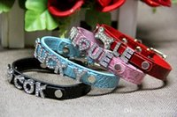 50% Mix 7colors 4sizes Croc Pu cuir personnalisé DIY Nom Charm Dog Pet Collar Pet Supplies (prix excluent les curseurs) 50pcs 522