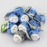 Wholesale totoro plush wholesale - 10pcs lot My neighbor Totoro Plush Pendants Phone Strap Soft Dolls for kids gift Free Shipping