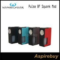 Wholesale Metal Bottle Caps - Vandy Vape Pulse BF Squonk Box Mod Comes with 8ML Food Grade Silicone Bottle Steel Cap Compatible with 18650 20700 Batteries 100% Original