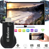 Wholesale Th Wholesale - MiraScreen OTA TV Stick Dongle Better Than EZCAST EasyCast Wi-Fi Display Receiver DLNA Airplay Miracast Airmirroring Chromecast V1627