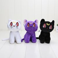 Wholesale Sailor Moon Cats Stuffed Animals - 15cm Japanese Anime Sailor Moon Cat Luna Artemis Stuffed Animals Plush Doll Soft Toys New Year Gifts