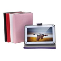 Wholesale Tablet Pc Pouch White - 10 Inch Tablet Case PU Leather Foldable Folding Folio Wallet Design Stand Smart Cover Cases For 10 Inch Tablet PC