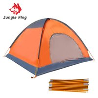 Wholesale rod travel bag resale online - Double Layers Camping Tent Aluminum Rod Waterproof Four Persons Beach Tent With Carry Bag For Outdoor Travel Hiking camping