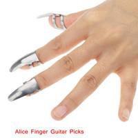 Wholesale Guitar Parts Wholesalers - High Quality Finger Guitar Picks Giutar Plectrums Alice AP-3MS Stainless Steel Durable Guitar Parts & Accessories 3pcs set I622