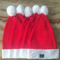 Wholesale Warm Santa Hat - Wireless Bluetooth Christmas Beanies Sport Music Hat Smart Headset Cap Warm Winter Santa Claus Hat For All Smart Phones CCA8055 10pcs