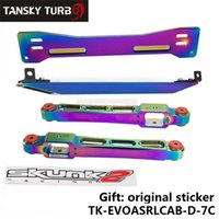 Wholesale Asr Brace - Tansky - ASR Rear Lower Control Arm Subframe Brace Tie Bar Neo Chrome For 1997-2001 Mitsubishi Mirage TK-EVOASRLCAB-D-7C