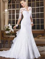 Wholesale Buy Black Mermaid Dress - Modest Long Sleeves Wedding Dresses Mermaid Popular Vintage Wedding Dress Lace Wedding Gowns Buy Plus Size Bridal Gowns With Long Sleeves