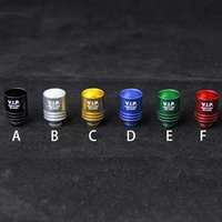 Wholesale Ego Aluminum - EGO Aluminum Wide Bore Drip Tips VIP 510 Thread Mouthpiece Fit E Cigs RDA RBA Tanks EGO Mods Drip Tips For Ecigs