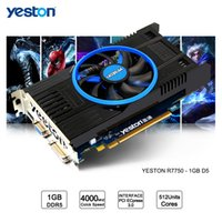 Wholesale Pci E Video Card 512mb - Yeston Radeon R7750 GPU 1GB GDDR5 128bit Gaming Desktop computer PC Video Graphics Cards support VGA DVI HDMI PCI-E X16 3.0