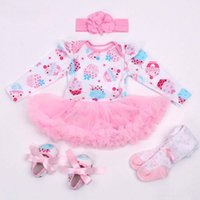Wholesale Toddler Pink Romper Dress - Girl Dress Infant Outfits Baby Clothes Toddler Clothing 2016 Spring Autumn Flower Lace Romper Children Set Kids Suit Outfits Lovekiss C22588