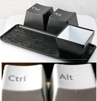 Wholesale 100sets DHL EMS creative Keyboard cup fashion cup per set include ctrl del alt pieces set