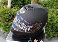 Wholesale Motorbike Full Face Helmets - Free shipping SHOEI motorcycle Helmet Black motorbike helmet double lens helmet
