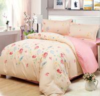 Wholesale comforter sets queen sale - Wholesale-Europe Style Cotton Bed Sheet Hot Sale Fashion Print Bedding Set 1set lot Funda Nordica Comforter Bedding Set Duver Cover Set