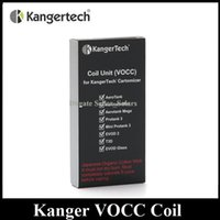 Wholesale Dual Coil Replacement Cartomizer - Authentic KangerTech VOCC Coil Replacement Atomizer Head 0.8 1.0 1.2 1.5 1.8ohm fit Kanger Dual Coil Cartomizer