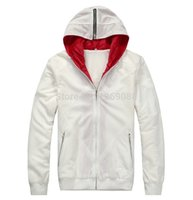 Wholesale Desmond Miles Jacket - 2 Colors Assassin's Creed 2 Desmond Miles Cosplay Costume White Black Hoodie Coat Sewing Eagle Logo Unisex Warm Hooded Jacket