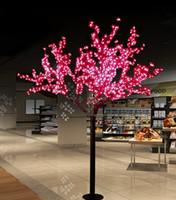 ingrosso ha condotto l'albero artificiale della ciliegia chiara-Luci artificiali fatte a mano LED Cherry Blossom Tree Luce di notte Luci di Natale Decorazione luci di Natale 2m LED