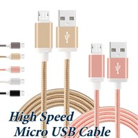 Wholesale Houses Color - Metal Housing Braided Micro USB Cable USB 2.0 To 3.1 56K Ohm Resistor High Speed Charging Type C Cable For Android Smart Phone