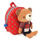 correa de bebé niño pequeño al por mayor-2014 New Children Bag Baby Bear Harness Correa mochila Kid's school bag toddler belt Anti lost Walking Bag Envío gratis BBB021
