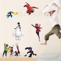 Big Hero 6 Adesivos de Parede Baymax Mural DIY Backdrop Quarto Living Room Poster TV Sofa Wallpaper Impermeável Wall Stickers Home Decor A458 100
