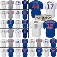 dcd351cbc Baseball Men Short Chicago 17 Kris Bryant 44 Anthony Rizzo Baseball Jersey  12 Kyle Schwarber 9