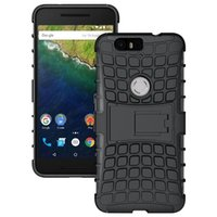 Wholesale Tpu Smartphone Case - Nexus 6P Case TPU + PC Protective Case Back Cover With Stander For Google Huawei Nexus 6P Smartphone