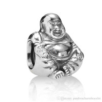 Wholesale 925 Sterling Silver Buddha - Unique Tibetan Buddha design 925 Sterling Silver European Bead Charm Custom DIY Jewelry For Snake Bracelet Chain Wholesale
