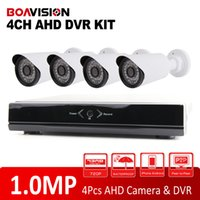 Wholesale Mini Bullet Camera System - 4CH DVR Kit 25FPS Realtime Playback With 720P AHD Mini CCTV Waterproof Bullet Camera System 4Ch HD Security Camera Mobile P2P View