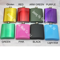 Hip flask 8oz color mixed , laser welding , Free engraved