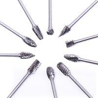 ingrosso strumento di burr-10pcs Dremel Carburo Burrs Set di punte da trapano Frese rotative Micro punte per metallo lavorazione del legno intaglio strumento di vetro diamante