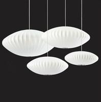 Wholesale White Silk Pendant Light - Creative Fashion Silk Pendant Light Flying Saucer Pendant Lamp White Pendant Lamp Modern Simple Style Restaurant Sitting Room Pendant Lamp