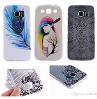 Wholesale S3 Cases Floral - Henna Mandala Paisley Flower Floral Soft TPU Case For Iphone 5 5S 6 6S Galaxy S6 Edge Plus Note4 S3 S5 Huawei G7,P8,Lite Dreamcatcher Cover