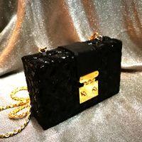 Wholesale Clutch Diamonds Pearls - Woman Evening Bag Gold Glittered Pearl Flower Clutch bags Wallet Wedding Purse Party Banquet Girls Shoulder Messenger Bags