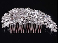 Wholesale Tuck Combs Hair - 2017 NEW Wedding bridal headdress bridal Hair Accessories luxury Full drill Pan head Edge comb tuck comb Wedding Accessories TS57
